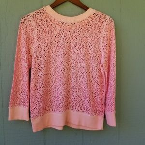 Free People Sweaters - We the Free Pink Hole Destructed Sweatshirt L